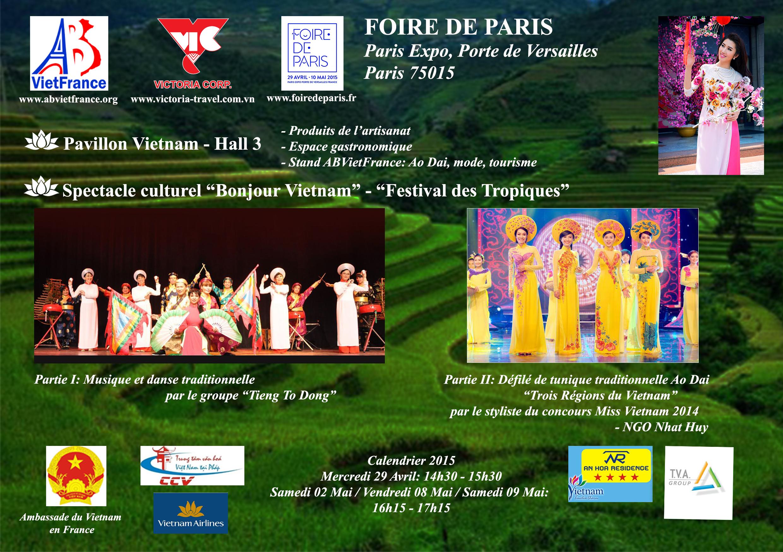 foire de paris : spectacles traditionnels vietnamiens, samedi 2 mai
