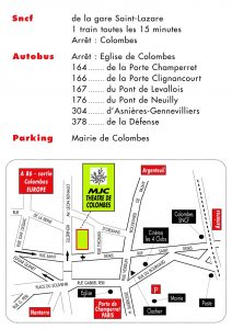 Plan + acces transports MJC TColombes