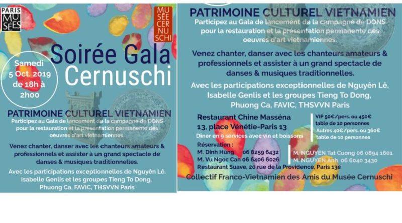 Gala du 5/10/2019 de lancement de la campagne de dons pour la restauration et la présentation permanente des œuvres d'art vietnamiennes du musée Cernuschi (Paris 13e)
