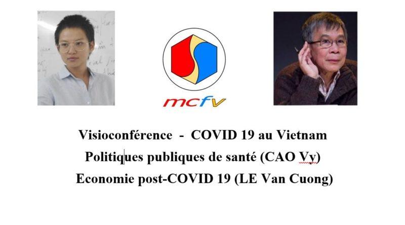 Conférence à distance (webinaire) du MCFV sur la COVID 19 au Vietnam par la doctorante CAO Vy (politiques de santé) et le Pr LE Van Cuong (économie) le 10-10-2020