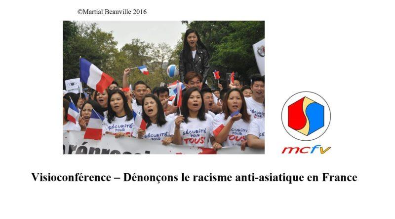 Table ronde à distance (webinaire) du MCFV sur le racisme anti-asiatique animée par Linh-Lan DAO le 8-11-2020 avec 8 intervenants